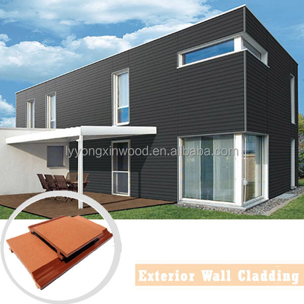 Decorative outdoor wood plastic composite wall panel board - Exterior plastic cladding for houses ...