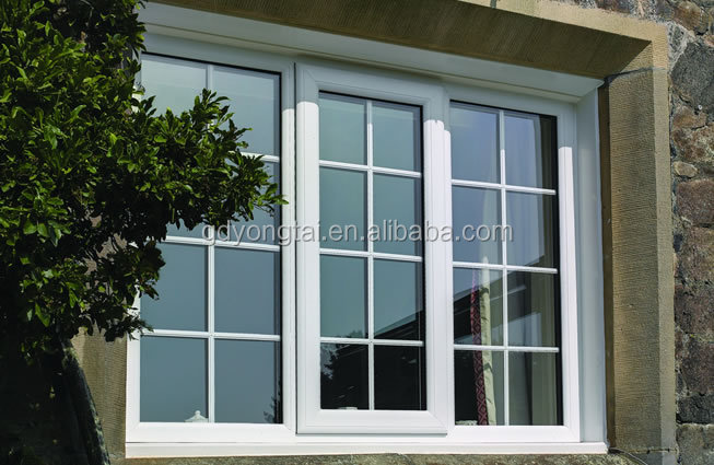 Hot sale upvc openable window with grills upvc casement windows design window projection