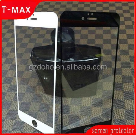 colored border tempered glass screen protector for iphone 6,front and back screen protector for iphone 6 full coverage