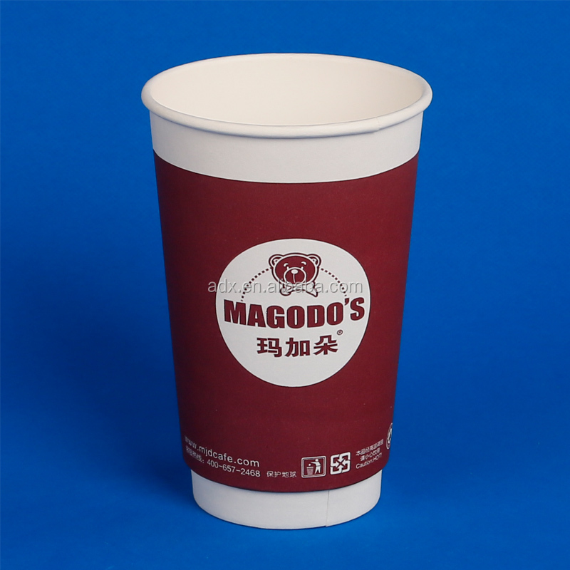 Disposable Wholesale Waxed Double Walled Paper Coffee Cup