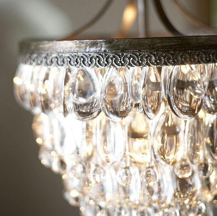 elegante luce del pendente di cristallo per lampadari di cristallo ...