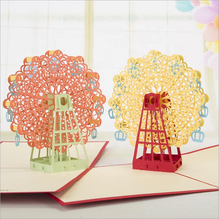 Поздравительная открытка 3д оригами, студентов