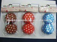 header card with opp bag packing paper cake cup cupcake paper holder