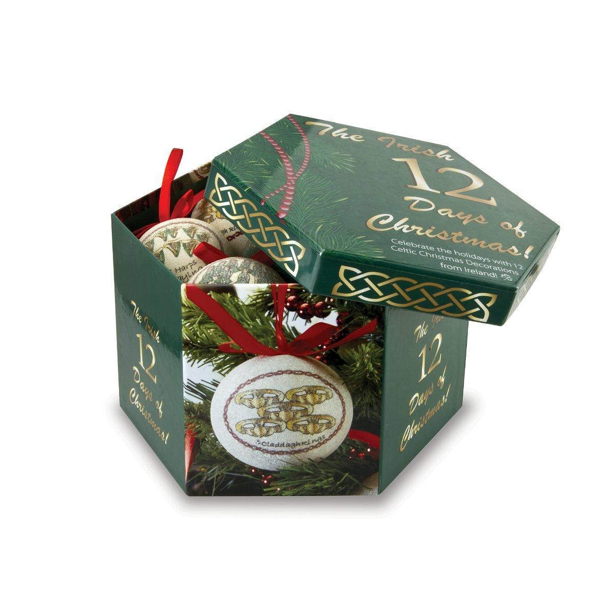 12 Irish Days of Christmas Ornament Set & Keepsake Box