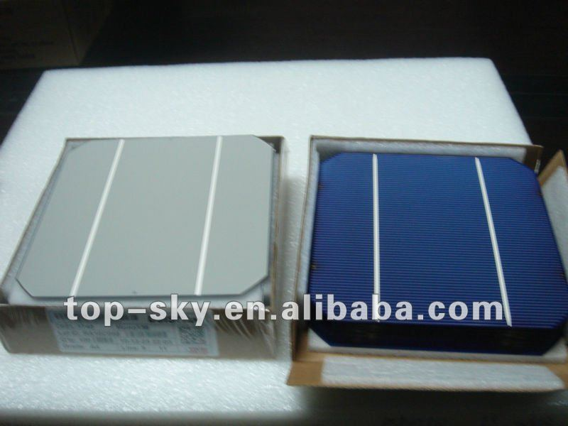 2016 hottest A grade high efficiency monocrystailline solar cell 156mm x 156mm,2 bus bar low price, solar charger cell phone