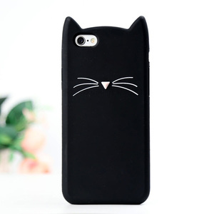 Cute Silicone Soft Handphone Shell 3D Rubber Animal Shaped Phone Cases For Samsung