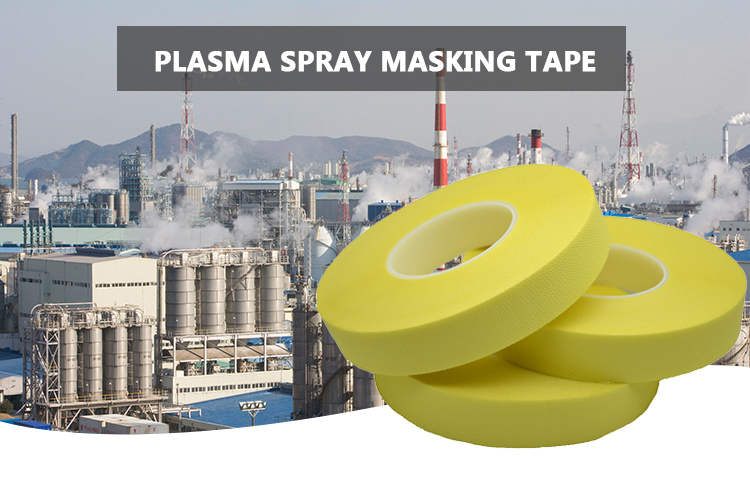 Spray Spray Masking Tape Suhu Tinggi Selotip Dua Sisi Kaca Kain Tape untuk Semprot Perlindungan