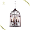 Indoor Lights Zhongshan Vintage Iron Chain Chandelier Bird Cage Crystal Pendant Lamp Restaurant Dining Hall Light