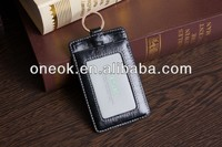 Black color genuine leather card holder for name card company use