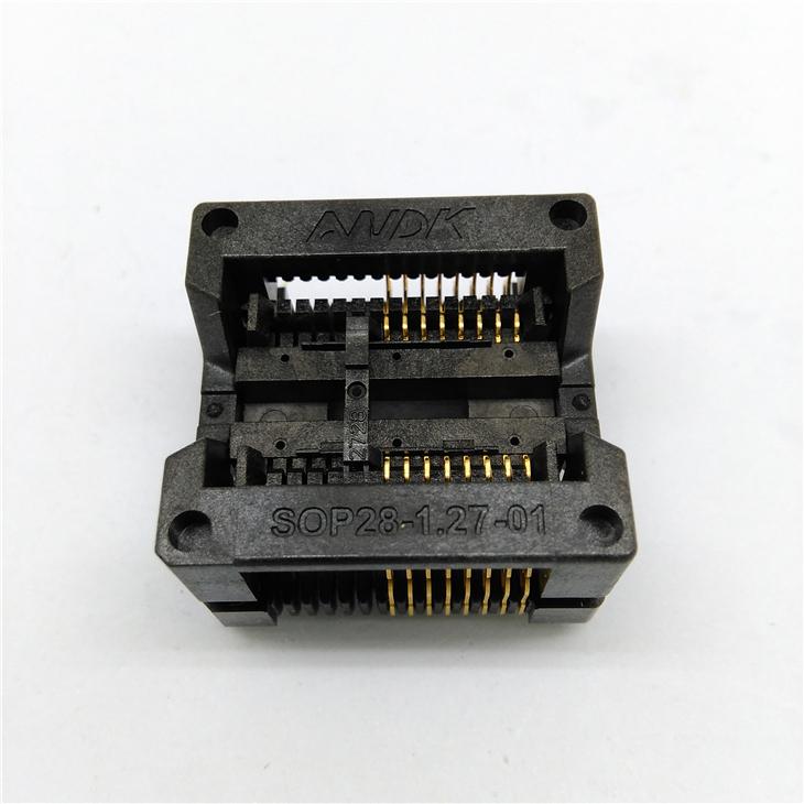 SOP16 SOIC16 SO16 Burn in Socket Pitch 1.27mm 300mil IC Body Width 7.5mm Test Socket Adapter