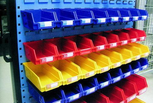 Plastic Bin Storage Rack Movable Tool Hanger Panel