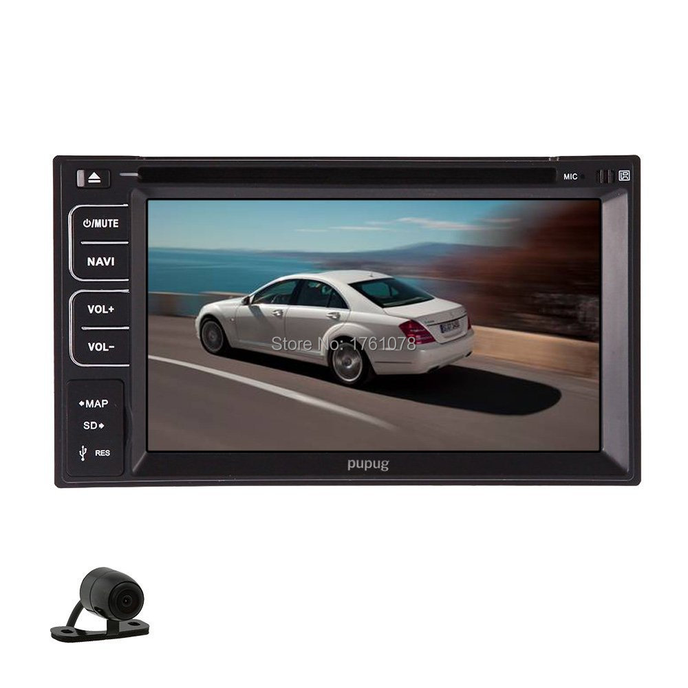 Get quotations double din 2 din 6 2 inch in deck car video cd stereo radio car dvd player