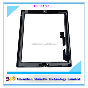 In stock for ipad 3 screen,digitizer for ipad 3 screen display,for ipad 3 touch