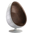 Retro Aviator aluminum space egg chair oval eyeball chair for sale