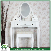 girls style modern wood dresser set / white dressing table with mirror