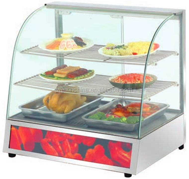 Glass Food Warmers ~ Electric glass food warmer display showcase pizza
