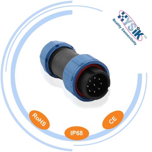 9 pin underwater IP68 connector Sp2110/p7 male cable connector