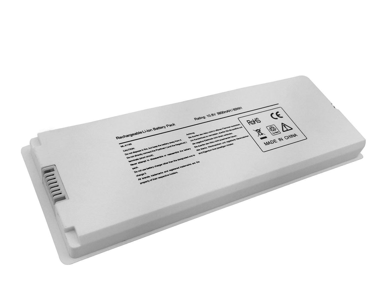 """Novelty 10.8V 5600mAh/60Wh New Laptop Battery for Apple acBook 13"""" A1185 A1181 MA561G/A MA561LL/A MA566 MA566FE/A MA566G/A MA566J/A White"""