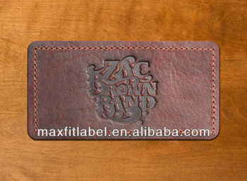 Custom Embossed Jeans Pu Leather Patch
