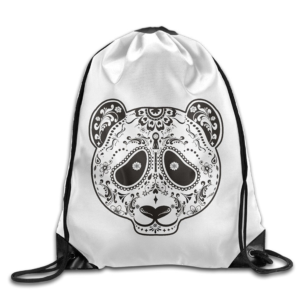 Get Quotations · Candy Skull Panda Panda Bear Fashion Print Original Art  Cherished Unisex Drawstring Hiking Backpack Drawstring Backpack 278db80dfc75c