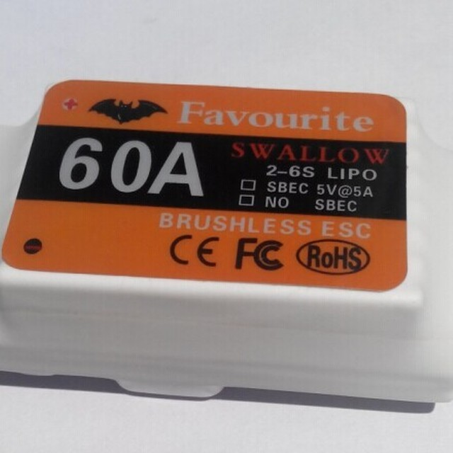 60A Brushless ESC 2-6cells BEC:5V/5A RC Helicopter/airplane