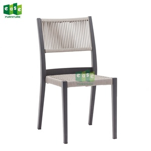 cotton rope balcony weaving chair aluminum frame seat with cushion-E1143