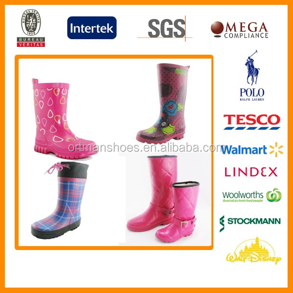 Lady's rubber ran boot,Rain Boots Type and Knee Boot Height rainboots