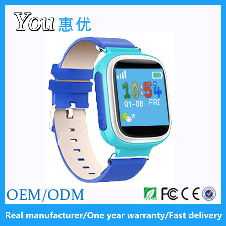 1.44 inch sos voice chatting phone calling sleep monitoring gps smart baby watch q60