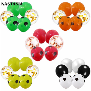 NASTASIA thicken square football printed latex balloon 12inch kids toy baby  shower birthday party decor hot sell