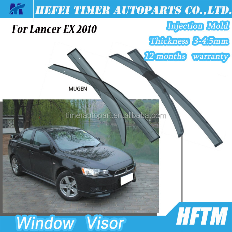 For Lancer EX 2010 Injection mold wind deflector china 2016 hotsale sunroof deflector