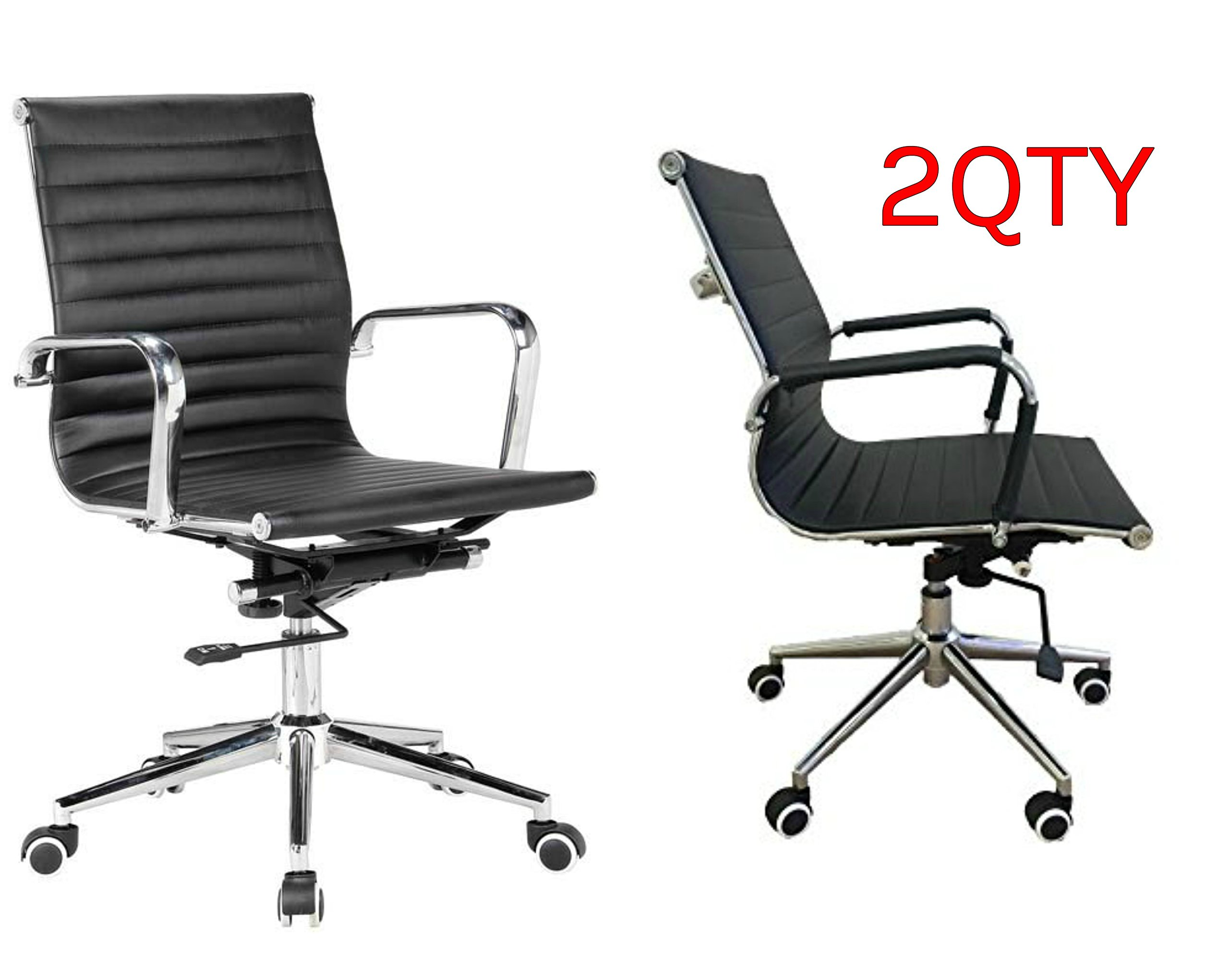 Buy Best Office Chairs.Mid-Back Office Chair.Leather Mid ...
