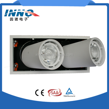 energy saving 3 headlights dimmable led retractable ceiling mounted downlight spot track light