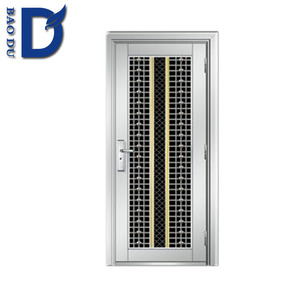 cheap security door stainless steel one and half door-leaf steel door