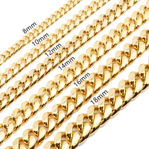Amazon Hot Selling Gold Cuban Link Chain For Jewelry Making