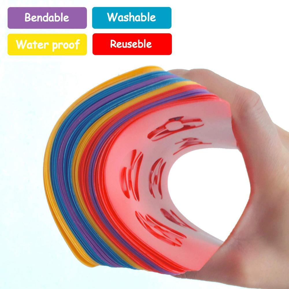 High Quality Thick Colorful Plastic Stencils for Kids Diy