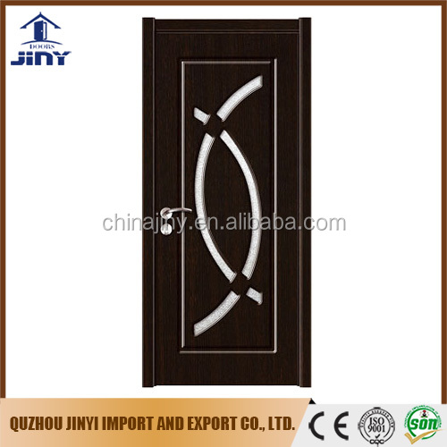 2017 main pvc skin membrane glass kitchen room wood door panel design