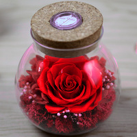 Preserved Eternal Roses Flowers In Glass Wishing Bottle Unique Promotion Gift Items Ideas From Funcy Flora
