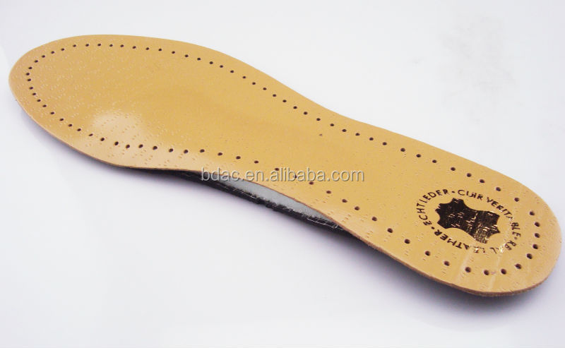 full length Latex leather insole genuine leather shoes insoles