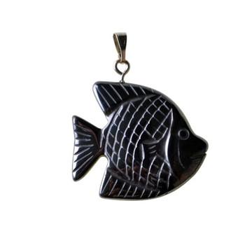 Sea fish hematite clasp pendant magnetic christian fish necklace sea fish hematite clasp pendant magnetic christian fish necklace aloadofball Choice Image