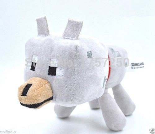 10pcs/lot 23cm Minecraft Toys High Quality Minecraft Wolf Plush Dolls Wolf Soft Toys For Kids Christmas Gifts