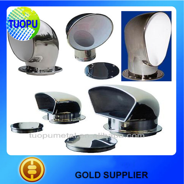Stainless Steel Adjustable Wall Air Vents /round Cowl Vent/ Adjustable  Marine Hardware Air Vent