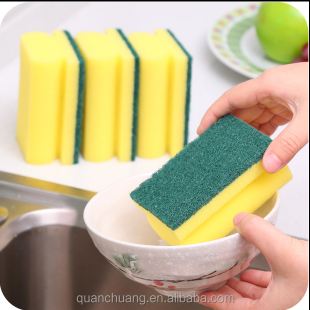 High Density Kitchen Cleaning Scrubber Washing Sponge Scouring Pad Dish Cleaning cloth
