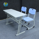 Cheap used double attached adult student seat school desk