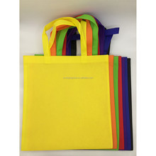 T1002 LOW MOQ color Non woven tote shopping bag with custom logo for promotion event