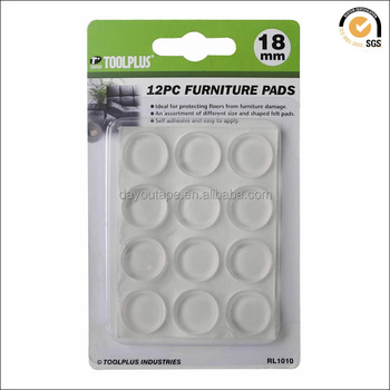Furniture Accessories Anti Slip Glass Table Pad Rubber Adhesive Silicones  Furniture Protection Pads
