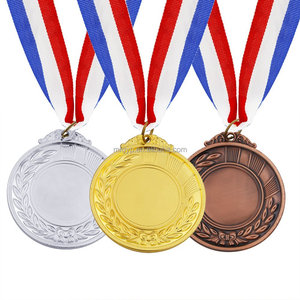 Gold Silver Bronze Award Medals, Sports Style Winner Medals Gold Silver Bronze with Ribbon