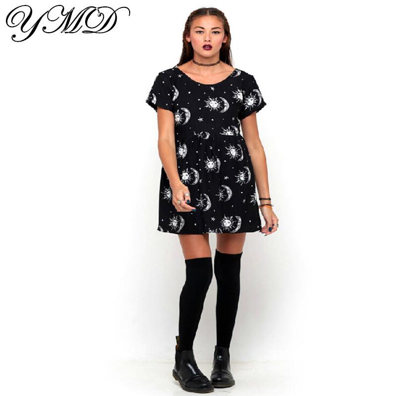 summer fashion sale print black dress woman clothes club ...