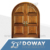 Luxury installing wood doors arched double entry doors