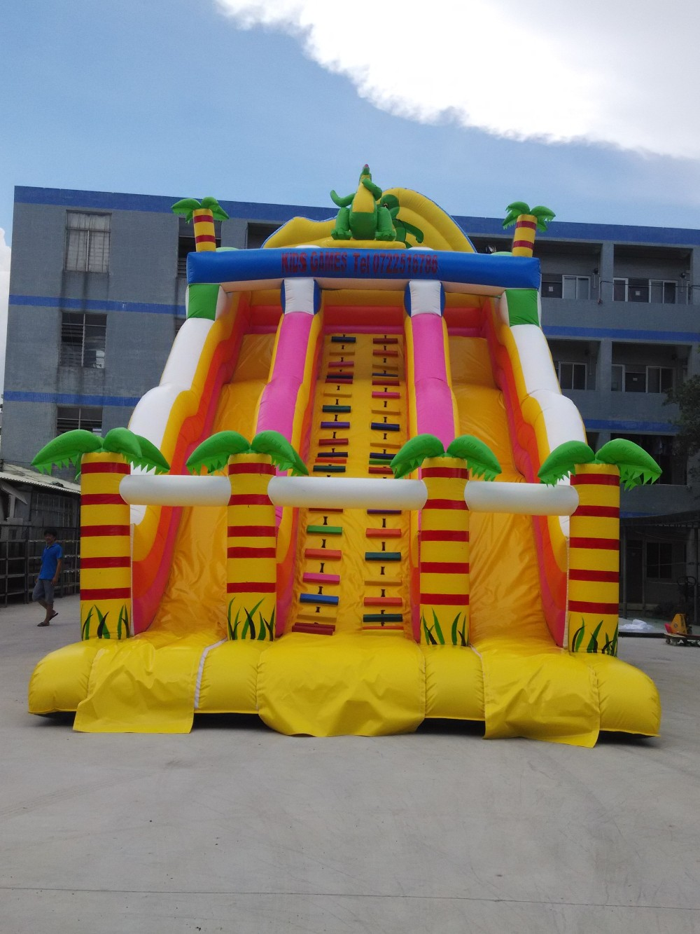 backyard water fun playtime giant inflatable water slide buy