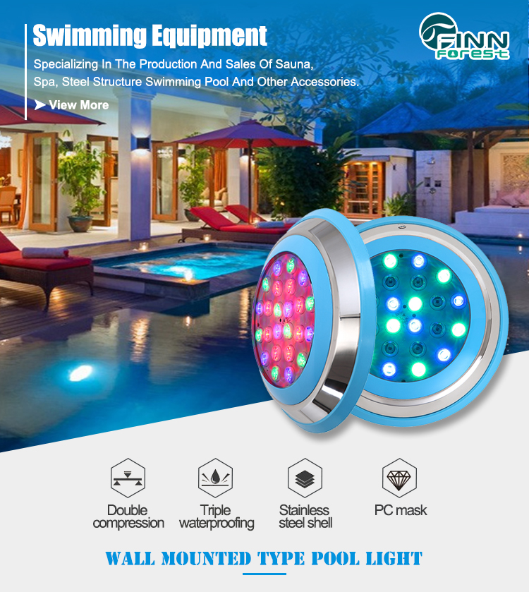 IP 68 Par 56 Hentech Swimming Pool Lights Waterproof Led Light For Swimming Pool